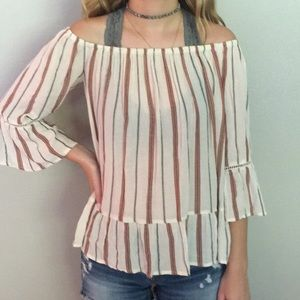 Mossimo size S off the shoulder bell sleeve Blouse